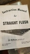 Williams 1970 Straight Flush pinball manual and schematic