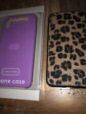 Lot Of 2 heyday Apple iPhone XS Max Case Pink Silicone Purple Leopard Print New
