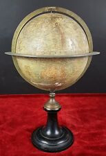 GLOBE. SIGNED MAISON DELAMARCHE. PLASTER AND PAPER. PARIS. 1869.