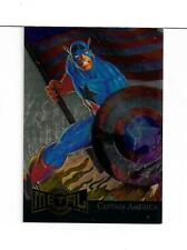Marvel Metal 1995 GOLD Blaster card 2 Captain America