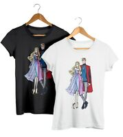 Disney Couples Fashion T-Shirt Princess Aurora & Prince Philip Unisex Fit Tee