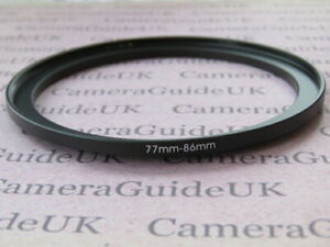 77mm to 86mm Male-Female Stepping Step Up Filter Ring Adapter