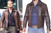 Inception Cobb Vintage Genuine Cowhide Leather Brown Mens Leather Jacket