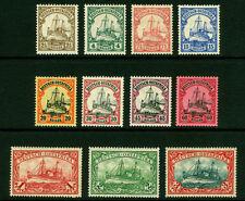 German Colonies - EAST AFRICA 1905-16  Kaiser's YACHT set  Sc# 31-41 mint MH