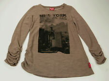 Pampolina Reload Long Sleeve Shirt Girl Summer Shirt Brown New York Size 116 NEW