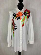 Byblos Women's Shirt Cotton Elegant Flowered Optical Woman Shirt SZ.L - 46