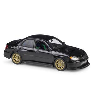 Welly 1:24 Subaru Impreza WRX STI Diecast Model Racing Car Black NEW IN BOX Toy