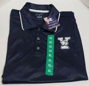 Yale University Bulldogs Short Sleeved Polo Shirt Men's Size XL Navy Blue