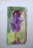Acquerello Impressionista Fleurs Fiori Fiori Rosa Pink Verde Giallo Espressiva