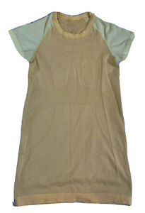 Womens Lululemon Swiftly Tech Short Sleeve Tee Womens Size 4 Yellow *Flaw*