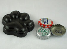 Black Dog Paw Cast Iron Bottle Opener, Old Fashioned Painted Look, Brand NEW!