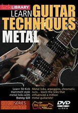 Learn Guitar Techniques: Metal Kirk Hammett Style Lick Library DVD NEW 000393047