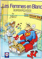 LES FEMMES EN BLANC SUPERPIQUEES EDITION PUBLICITAIRE FINA BELGIQUE 1997 TBE/N