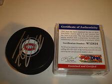 Thomas Vanek Signed Montreal Canadiens Hockey Puck PSA/DNA COA Autographed b