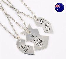 Girl Child Heart Split big little SISTER Necklace Gift sister sisterhood sibling