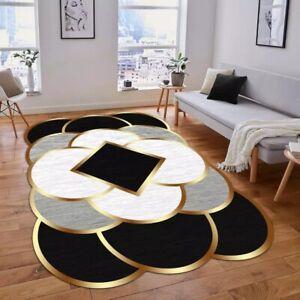 MS1000 Decorative Carpet Non-Slip Base Rug Fabric Kitchen Livingroom Accessory M