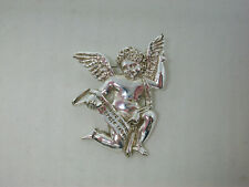 Collectors Limited Edition Vatican Library Silver Tone Angel Pin / Brooch