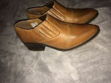 Steve Madden Catlia Leather Booties Size 7.5 Cowgirl Boots Women's  Cognac Brown