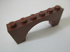 LEGO x1 Brick 1x6x2 with Arch - Reddish Brown Marron - LEGO 3307 set 4856