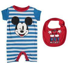 Disney Mickey Mouse Baby Jungen Strampler Bandana Set 2tlg. Gr. 56-62 Neu