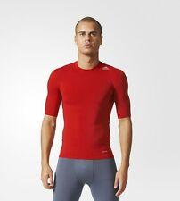 Adidas Mens Training Techfit Base Top Compression Short Sleeve AJ4968 Red MEDIUM