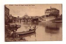 Roma Castel Sant'Angelo veduto dal tevere  viaggiata 03/10/1921     rif 32