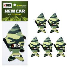 5 x CAMO CARP FISH Car Van Home Air Freshner Fresheners Scent Smell - NEW CAR