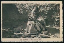 North Africa Morocco Jewish shoemaker Judaica original old 1930s postcard