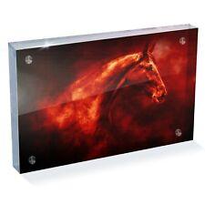 "Beautiful War Stallion Horse Photo Block 6 x 4"" - Desk Art Office Gift #15697"