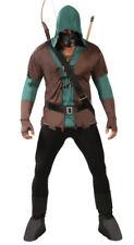 Adult Green Arrow Robin Hood Medieval Archer Hunter Fancy Dress Costume