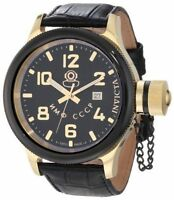 Invicta Mens 12425 Russian Diver Black Dial Stainless Steel Watch