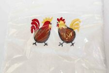 Musical TeaTowel Chicken Hand Towel, Plus 3 Chooks Red BathHand Towel Cotton NEW