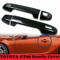 Carbon Fiber Exterior Door Handle Trim Cover for Toyota 86 Scion FRS Subaru BRZ
