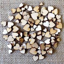 100pcs/set Rustic Wood Wooden Love Heart Table Scatter Wedding Decoration DIY