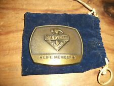 Club Of America Life Member vintage Belt Buckle 1996 Hand