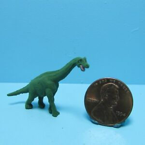 Dollhouse Miniature Rubber Plastic Toy Brontossaurus Dinosaur SL345522G
