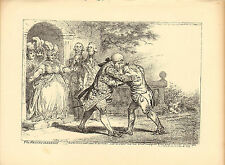 1873 james gillray ( the caricaturist ) print. the reconciliation !