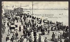 1909 ATLANTIC CITY NJ*BOARDWALK*STEEPLECHASE*STEEL PIERS*TO ST MARY'S COUNTY MD*