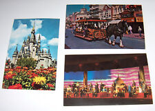 Disney World Postcards - Castle - Main Street - Presidents    From the 70's