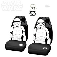 3PC STAR WARS STORMTROOPER CAR SEAT COVER WITH KEYCHAIN SET FOR TOYOTA