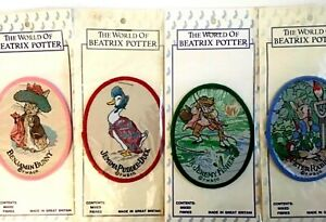The World of Beatrix Potter Vintage Patches 1990 Sewing Patches New