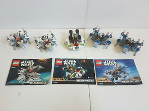 Lego Star wars Lot 4 MicrofightersAvec personnages