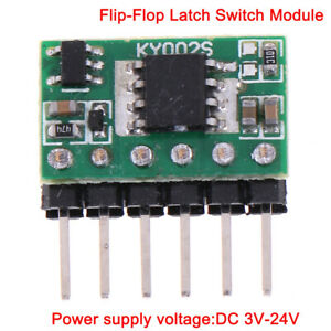 3V-24V 5A flip-flop latch switch module bistable single buttons 5000mA LED relYR