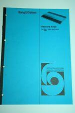 Bang & Olufsen Beocord 4500 Service Manual