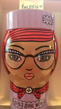 """Benefit Cosmetics """"Girls Gone Wow"""" Tin HEAD Canister - Adorable gift TIN limited"""