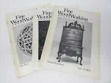 Fine WoodWorking Magazines Vol. 2 Issues 1, 2, 9 1977 Summer Fall Winter
