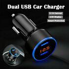 Dual Ports 3.1a Usb Car Cigarette Charger Lighter Digital Led Voltmeter 12v24v