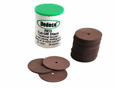 Dedeco 36 Pc Carborundum Cutting Disc Cut Off Disk Jewellery Model Making X1205