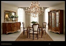 Esf Donatello Dining Room Set Made in Italy by Arredoclassic Italy, 9 piece set