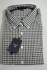 Gant Regular Fit Hemd kariert blau braun Dark Brown Gr. 2xl